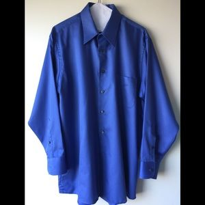 Geoffrey Beene Dress Shirt 👔 Large, 16 1/2, Blue